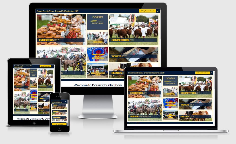 Dorset County Show Website designed and built by Alacrify
