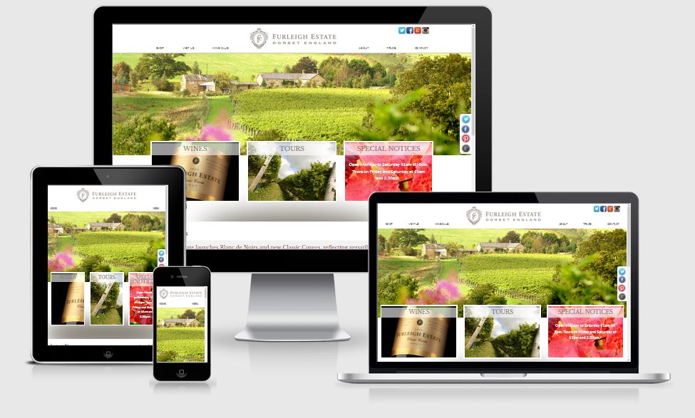 Furleigh Estate Vineyard - website design and development by Alacrify