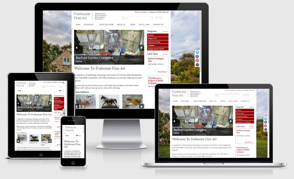 Fox House FIne Art - Responsive Website from Alacrify