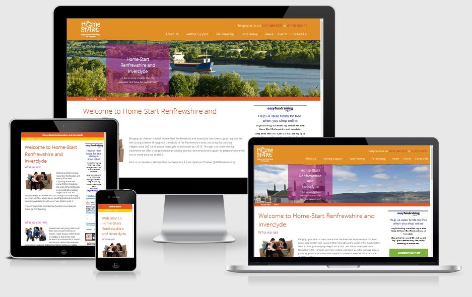 Home-Start Renfrewshire and Inverclyde - Responsive Website by Alacrify