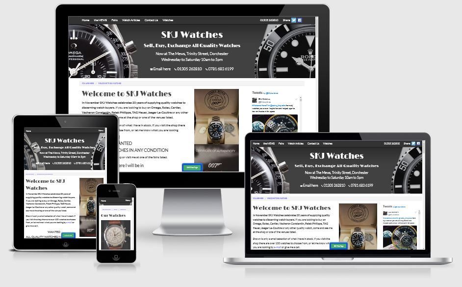 SKJ Watches - Responsive website design for watch dealer