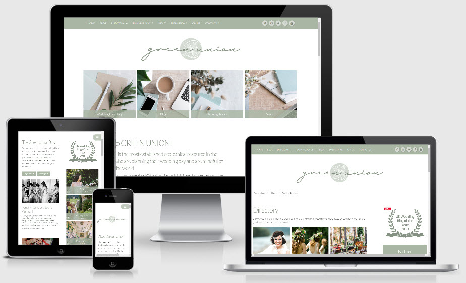 NEW Website for Green Union Weddings