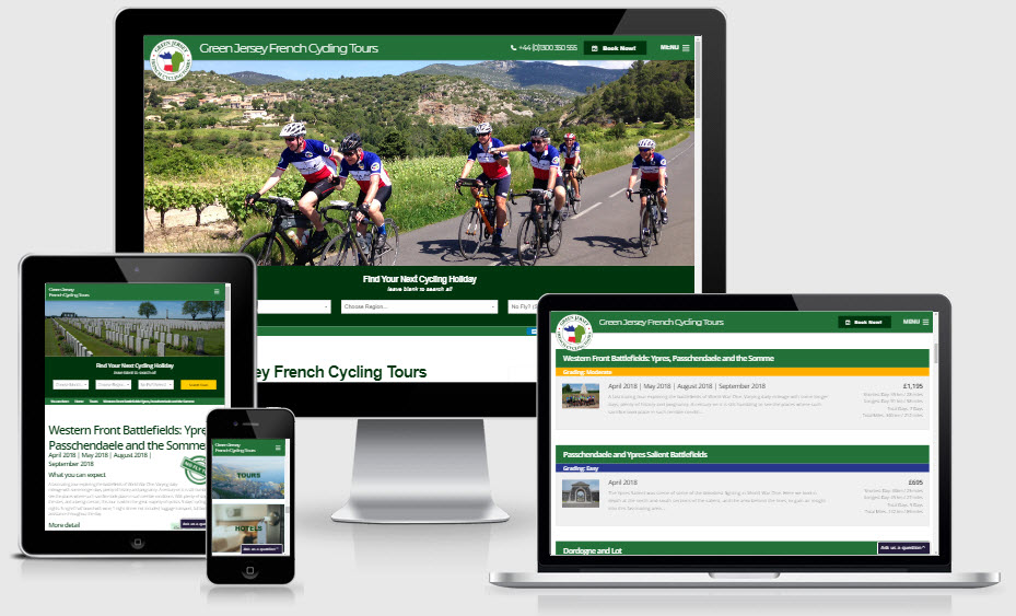 New Website for Green Jersey French Cycling Tours